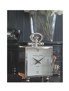 Chrome Mantel Clock